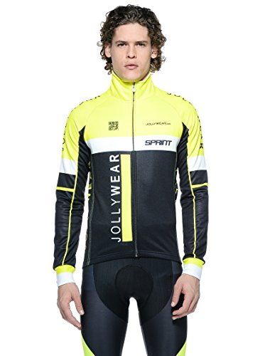 JOLLYWEAR Giacca Ciclismo Sprint Giallo/Nero S