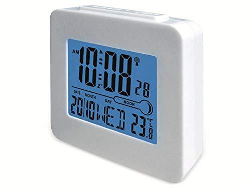 Denver REC-34 Alarma (Pantalla LCD, termómetro Interno, luz de Fondo Hinte) Azul/Blanco