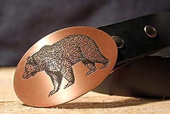 Bear Belt Buckle- Etched Metal