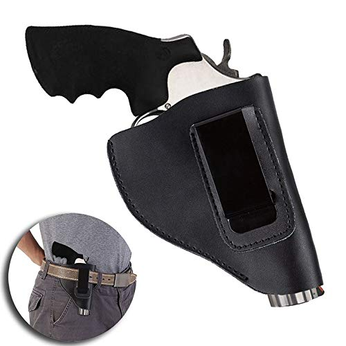 LIUSHUNBAO, Hunting Supplies Cool Tactical Holster In Gun Accessories Genuine Leather Hunting Combat Holster For Revolver New Black