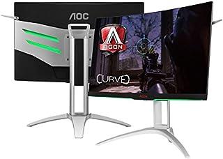"Monitor gamer entusiasta aoc ag272qcx 27"" led wide quad hd 2560 x 1440 144hz freesync vga hdmi dp"