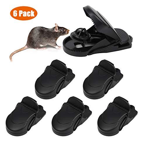 PECHTY Mausefalle, Profi-MäUsefalle Rattenfalle Köder Schlagfalle, einfaches Aufstellen und wiederverwendbar Mäusefalle Schlagfalle In Haus Und Garten