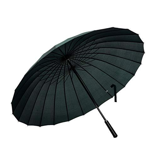 ThreeH Groß Stockschirm 24 Rippen Golf Regenschirm Sturmfester Geschäft Sonnenschirm KS07,Green