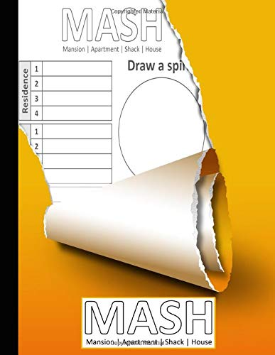 MASH Paper Game Book: Large Mash Game Notepad | Game with Boxes M.A.S.H. Activity Book - Mash Journal Notebook Game with Boxes - Play with Your Friends