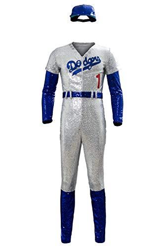 Xiemushop Elton John Dodgers Baseball Uniform Cosplay Kostüm Damen