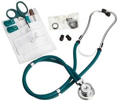 ADC Nurse Combo Plus, Pocket Pal/Sprague Stethoscope Kit, Includes Pocket Pal III Nurse Medical Accessory Kit with MiniMedicut Shears, 3-Color Pen, Adlite Plus Penlight,Teal