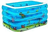OYY Manufacture Piscinas hinchables Piscina Inflable pequeña, Baby Bath Supplies Familia Paddock Rectangular Grueso Resistente a la Bola Marina Pool 143 * 105 * 75cm Piscina de Juguete