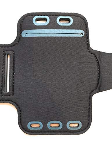 CoverKingz Sportarmband für Samsung Galaxy M31s - Armtasche mit Schlüsselfach Galaxy M31s - Sport Laufarmband Handy Armband Schwarz
