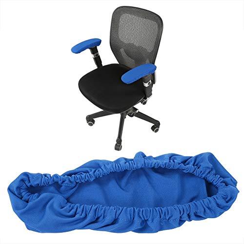 Funda para reposabrazos de silla de oficina, elástica cómoda extraíble para el hogar oficina y bar color azul