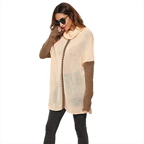 WODENINEK Winter Europa En Amerika Explosie Pullover Lange Mouwen Gebreide Sweater Grote Maat Dames Coltrui