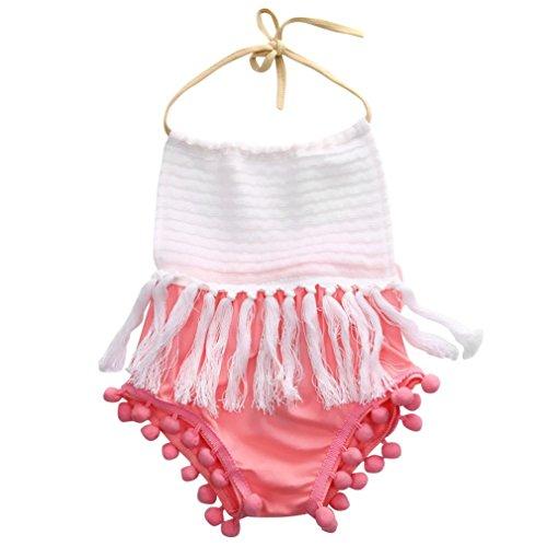 SAMGU Nouveau-né Enfants Baby Girl Romper bébé Jumpsuit Bodysuit Tutu Robe Vêtements Outfit Rose