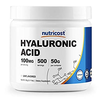 Nutricost Hyaluronic Acid Powder 50 Grams