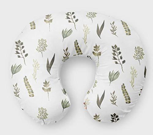 Fern Nursing Pillow Slipcover Greenery Nursery Baby Gift w/ 100% NonToxic USA Cotton/Minky