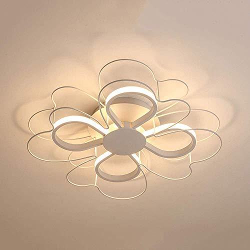 Beautiful Home Decoratielampen 24 W LED-plafondlamp wit ijzer acryl moderne creatieve bloemenvorm design plafondlamp voor woonkamer slaapkamer eettafel eten keukenaccessoires, warm wit licht 3