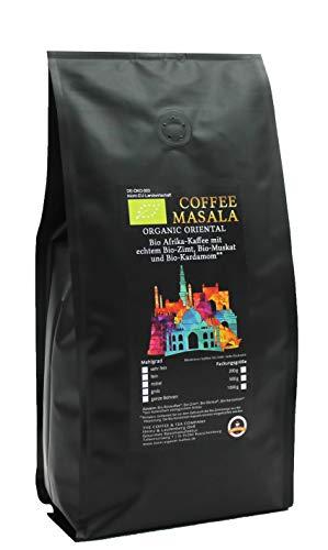 Coffee Masala - Bio Kaffee aus Afrika mit Bio-Zimtstange, Bio-Muskat und Bio-Kardamom (1000 g Fein Gemahlen (Espressokocher))