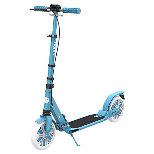 WUDAXIAN Scooter de Viaje, Scooter Urbano Ligero y Plegable para Principiantes, Adolescentes, Adultos, niños a Partir de 8 años