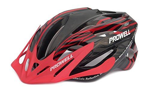 Prowell F59R Vipor F59R - Casco de ciclismo negro y rojo Talla: M (55-61 cm)
