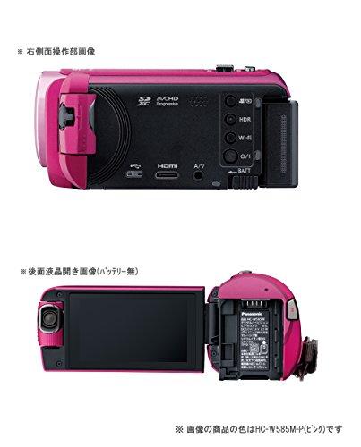 『パナソニック HDビデオカメラ W585M 64GB ワイプ撮り 高倍率90倍ズーム ホワイト HC-W585M-W』の2枚目の画像