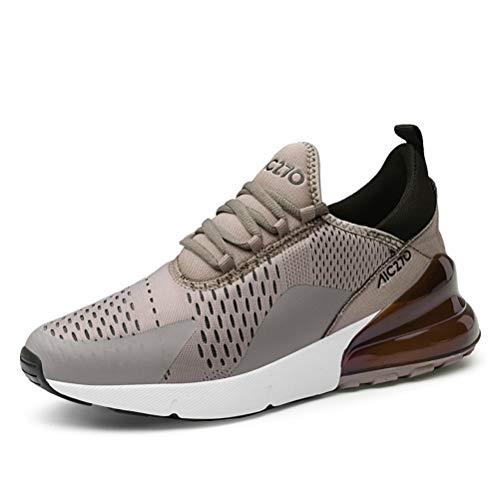 populalar - Scarpe da corsa, da uomo e da donna, scarpe da ginnastica, sneaker traspiranti, per corsa, fitness, palestra, outdoor, leggere., Marrone (3 marrone), 41 EU