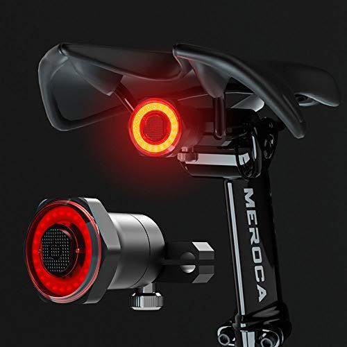 BAITENG Smart Bike Fahrrad Rücklicht, Sehr hell Bicycle Tail Rücklicht Led Auto Start Stop Bremse Ipx6 Wasserdichtes USB wiederaufladbar Rennrad Bike Sicherheitsrücklichter, Für Sitzrohrlicht