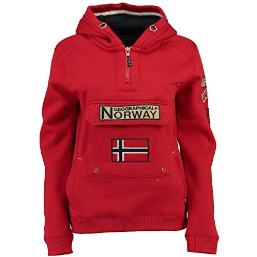 Geographical Norway Sudadera DE Hombre GYMCLASS Rojo XXL