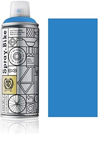 Fahrrad Lackspray in versch. Farben - Keine GRUNDIERUNG notwendig - Acryllack/Lack Spray in 400 ml Spraydose, Matt- und Klarlack Optik möglich (Kornblumenblau Bomber, Matt)