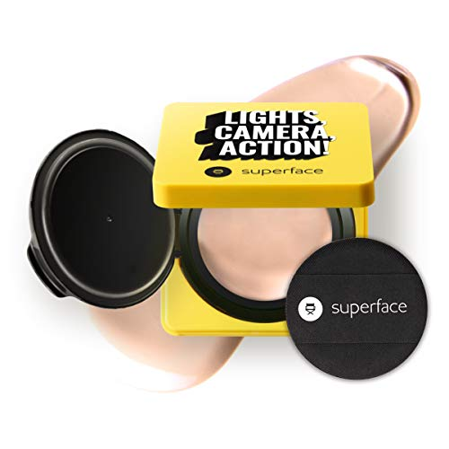 Superface Zoom In Mesh Cushion, SPF 50+, PA+++ Oil Control, Anti-Wrinkling, Anti Redness, UV Protection Multi-use Cushion Foundation Full Coverage Makeup for Sensitive Skin(0.42oz.)(01 Light)