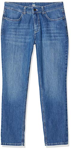 MAC Damen Straight Jeans Melanie 7/8, Blau (Mid Blue Commercial Wash D588), 36 / L28