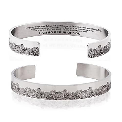 WJJCDD Pulseras inspiradoras para mujeres y madres regalo personalizado para ella grabado mantra brazalete brazalete de cumpleaños (2)