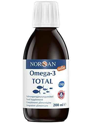 NORSAN Premium Omega 3 Fischöl Total Naturell hochdosiert - 2000mg Omega-3 pro Portion - Über 4000 Ärzte empfehlen NORSAN Omega 3 Öl - 800 IE Vitamin D3, kein Aufstoßen