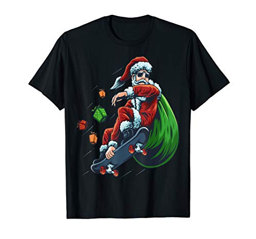 Let's go Santa Christmas Chopper Bike Skateboard T-Shirt