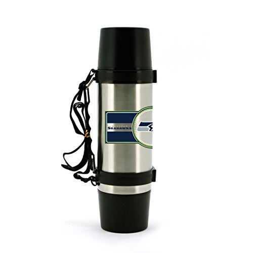 Duck House NFL Seattle Seahawks 40oz Double Wall Stainless Steel Outdoor Thermos White
