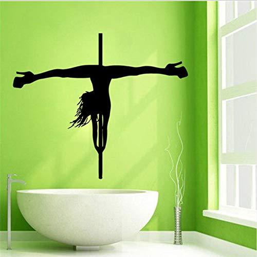 Adhesivos de paredPegatinas debailarina debarraChicas Strip Dance Decor43x52cm