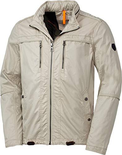 LERROS Herren Baumwolljacke, wetterfeste Outdoor-Jacke für Männer, mit Außen- & Innentaschen, Kapuze im Stehkragen verstaubar, wasserresistente Herrenkleidung, Gr. M - 3XL