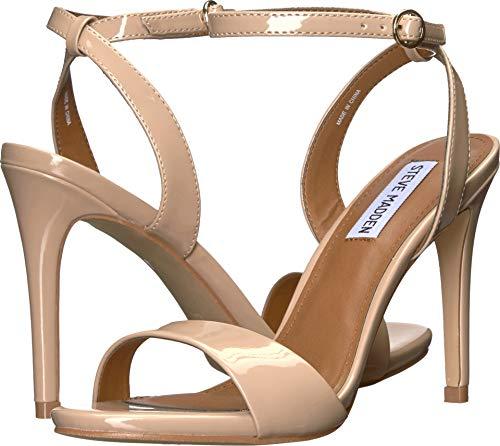 Steve Madden Reno Damen Sandalen mit offenem Zehenbereich, Beige (Hautfarben - Nude Patent), 40 M EU