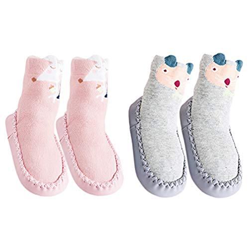 Hoylson Calcetines para Bebés Niña Niño Anti Deslizante Zapatillas Primera Infancia (XS: 0-10 mes, style-6)