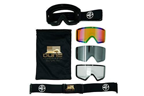 Dune Therapy MX Goggles Moto ATV UTV SXS Sand Dirt Dust Eye Protection
