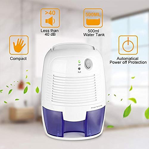 Fantastic Deal! Electric Mini Dehumidifier, Quiet Dehumidifier for Home Compact Portable Small Dehum...