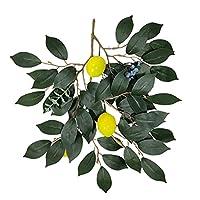 屋内屋外の結婚式のオフィスの装飾のための3pcs模倣植物ArtificialLemonミニプラスチック人工緑の植物