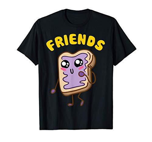 Kawaii Peanut Butter - Jelly - 2 2 BFF Best Friends Matching T-Shirt