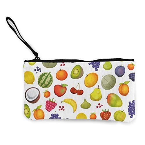 Apple Kokosnoot Aardbei Watermeloen Mango Peer Leuke Canvas Wijziging Munt Portemonneezak Zipper Houder Handtas Polsband Make-up Potlood Case Voor Vrouwen Meisjes Aangepast