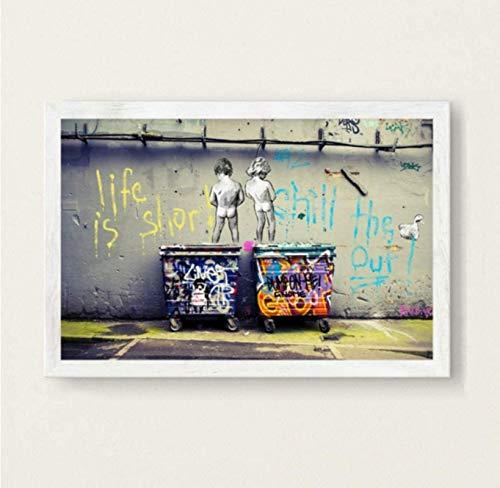 Puzzle Toy 1000 Piezas Montado Imagen Banksy Graffiti Adultos Niños Juego Juguete Educativo Kd78Hz