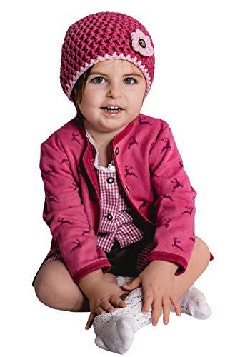 Trachten Jacke mit Hirschen Gr. 62-92 Baby Mädchen Pink