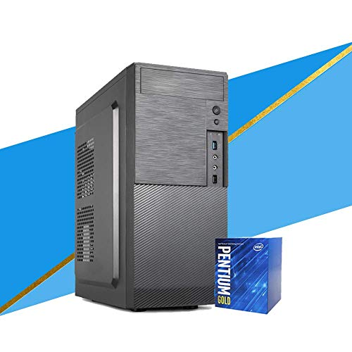 MAK Office G – Ordenador de sobremesa Intel 3,60 GHz, RAM 8 GB, SSD 240 GB PC montado completo con Windows 10 Pro + Office 19