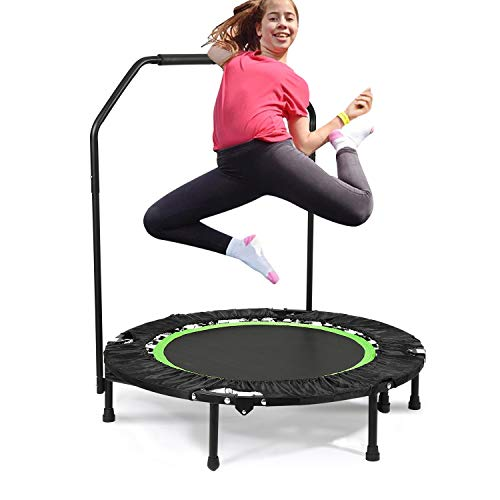 Bunao Trampolín Fitness con Mango Regulable – Cama Elástica para Adultos, Unisex 143 cm (Trampolines de interior8)