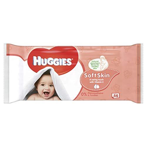 HUGGIES Nouvelles Lingettes Soft Skin X56
