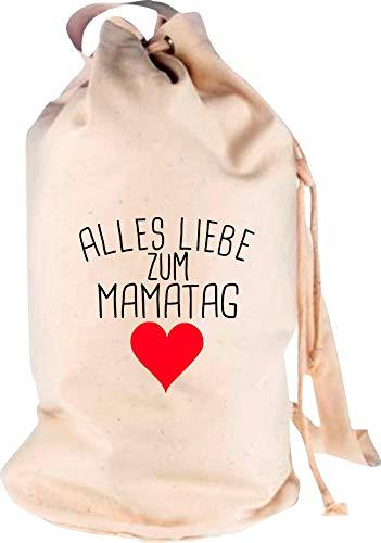 Shirtstown Sac à dos de voyage Motif amour du maman, Adulte (unisexe), naturel, 30 cm x 53 cm x 30 cm