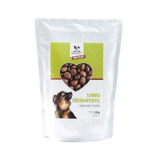 DOGS-HEART Lamm & Süsskartoffel (1,5 kg) Getreidefreies Hundefutter mit hohem Fleischanteil - ohne Zusatz von Zucker, Mais oder Weizen