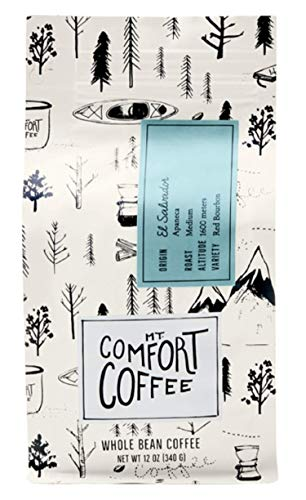 Mt. Comfort Coffee El Salvador Medium Blend, 12 oz Bag - Locally Sourced From Local, International Coffee Farms - Premium Roasted Whole Beans