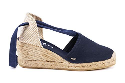 VISCATA Classic Espadrilles Heel Made in Spain, Navy Blue - 40 M EU